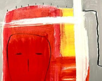 Original Abstract Art on paper, modern home decor, contemporary art