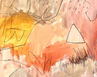 Original Abstract Art on paper, modern art, expressionism