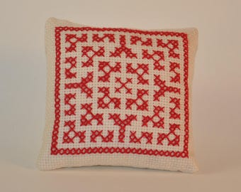 Hand embroidered pin cushion
