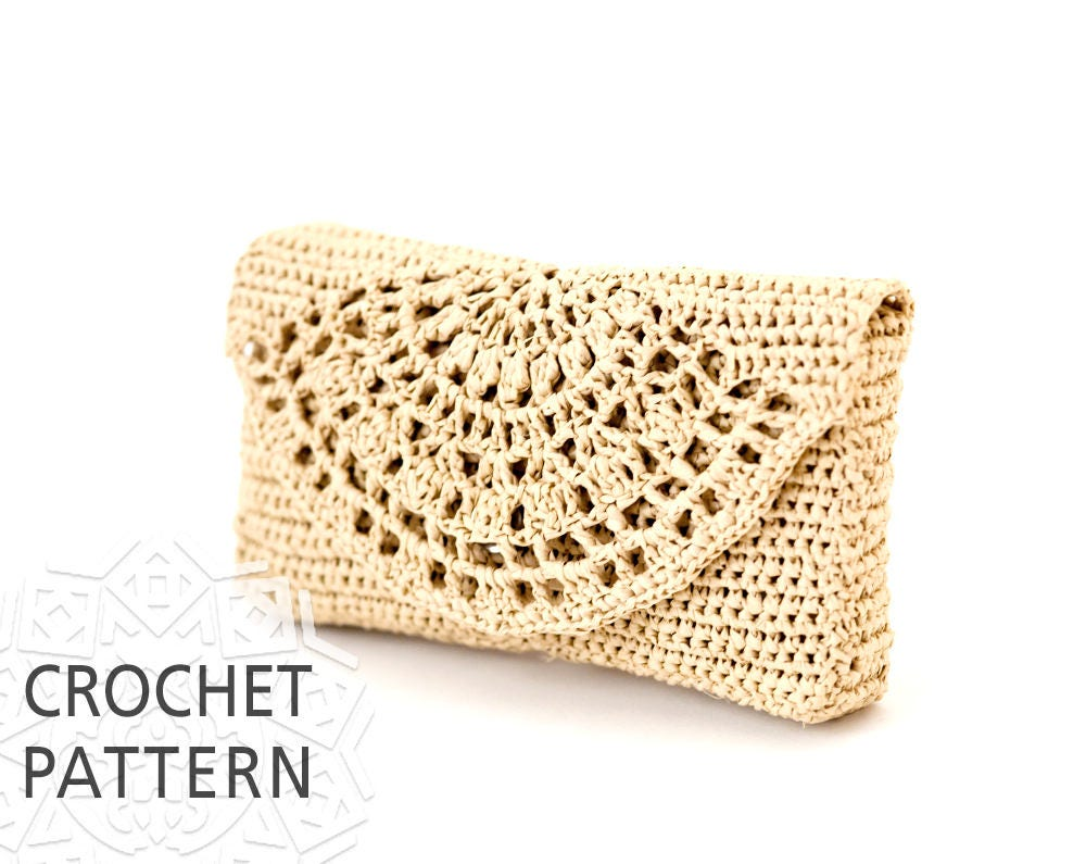 Crochet bag pattern raffia bag clutch purse handbags crochet this is a digital file bankloansurffo Gallery