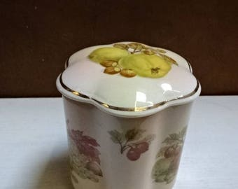 Royal Worcester Palissy Lidded Pot/Jar/Royale Collection Fruit/Vintage/Collectable