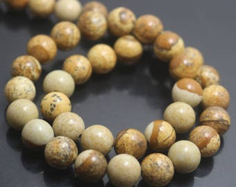 Picture Jasper Beads,6mm/8mm/10mm/12mm Smooth and Round Jasper Beads,15 inches one starand