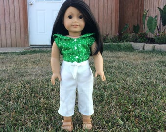 1940's style Outfit for 18'' dolls like American Girl Kit and Nanea Mitchell