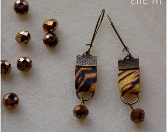 Tiger print fabric earrings