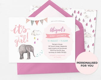 Cute Baby shower invitations, Girl baby shower invitation, Printable Baby shower invitation, Baby shower invites, Baby sprinkle invitations