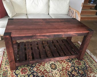 Rustic Handmade Cherry Coffee Table (Pallet Inspired)