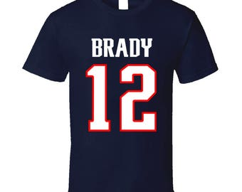 Tom Brady New England Patriots T Shirt, Tom Brady Jersey, New England Patriots Apparel, New England Patriots Jersey, Football Gift For Him