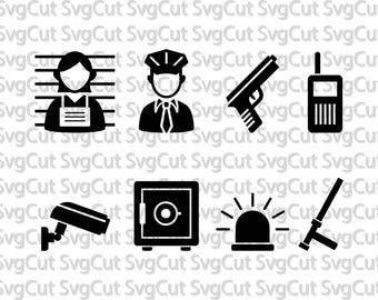 Police , Crime svg Police svg, Police Silhouette, Police Car, Police officer svg, SVG files for Silhouette Cameo or Cricut, vector,