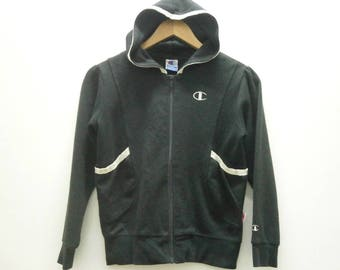 Chic! Authentic CHAMPION embroidered logo zip-up hoodie size 140 girl