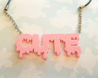 Cute Pastel Drip Necklace
