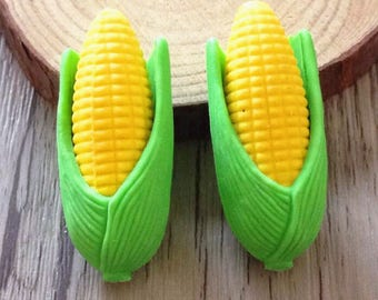 Eraser/eraser 2-piece shaped like corn on the COB