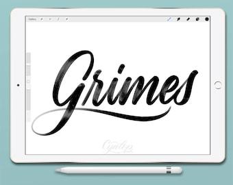 Procreate Brush : Grimes