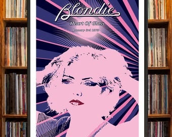 Blondie Heart Of Glass Poster