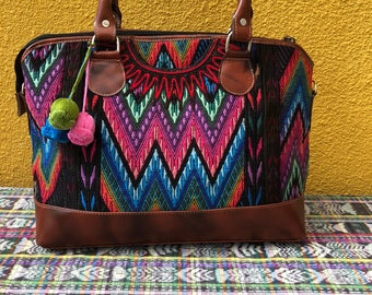 Beautiful huipil  from Chichicastensngo and leather