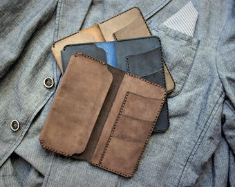 Leather summer wallet,  iphone leather purse . Flip-open design, HIGH QUALITY!
