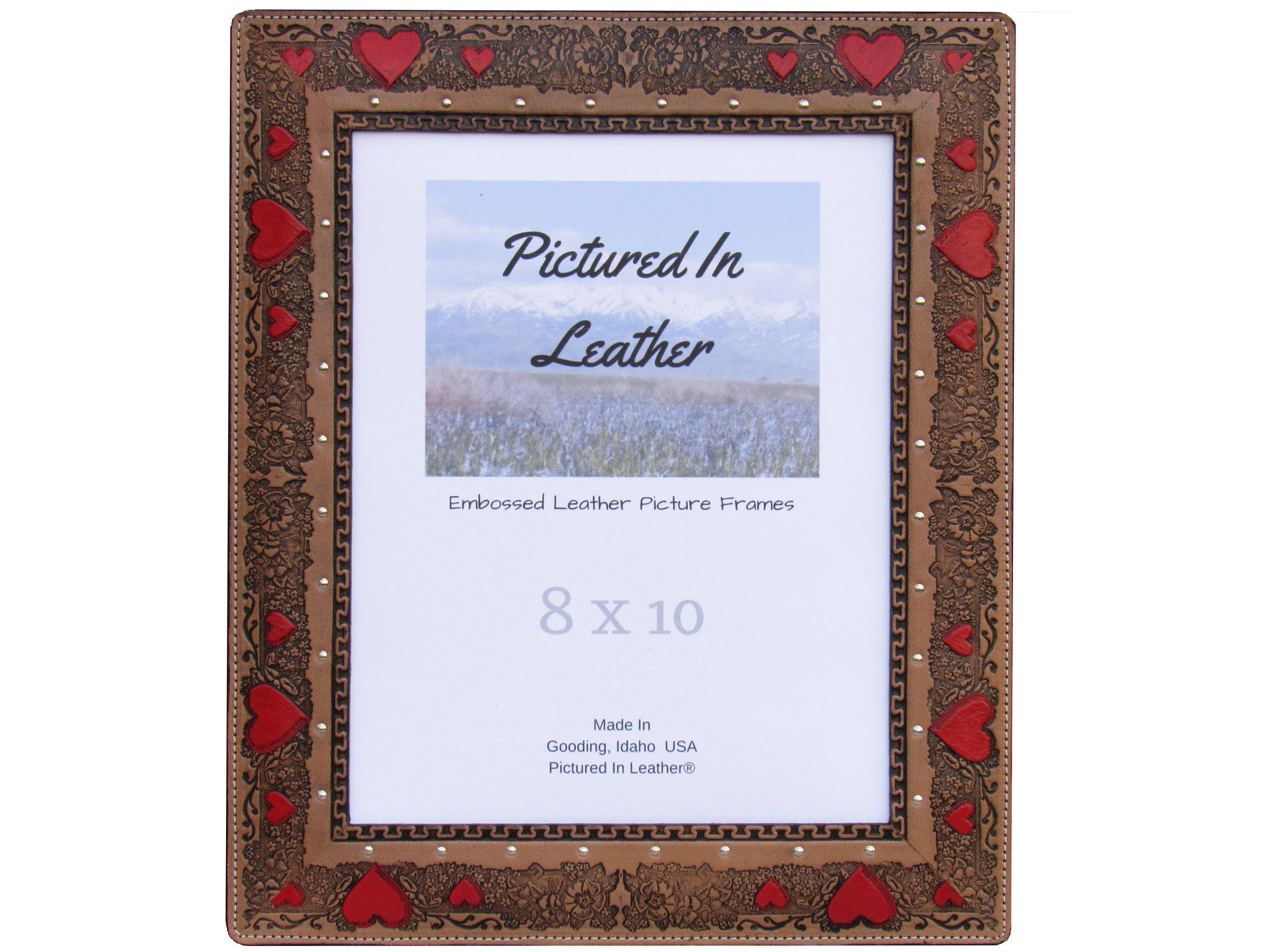 Leather Wedding Anniversary Gifts For Her: Valentines Day Gift For Wife, 8x10 Leather Picture Frame