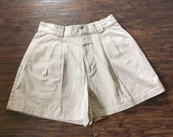 Vintage 90s High Waisted Gap Khaki Shorts sz 6