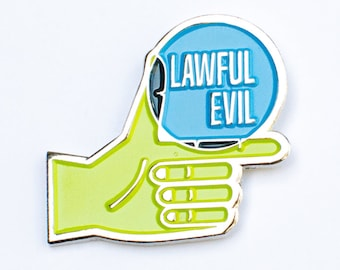 """Lawful Evil RPG Alignment 1.25"""" Enamel Pin"""