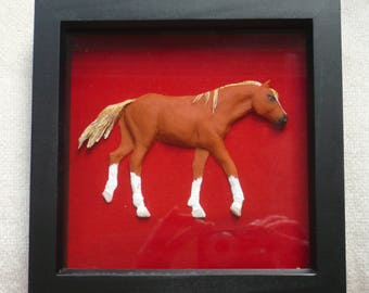 Decorative animal/pet portraits, framed with fabric background: Dogs, Horses, Cats, or any pet/animal you wish!