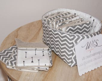 square / wipes with reversible basket