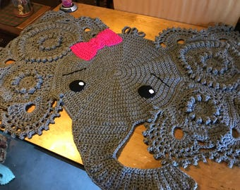 Josephina the Elephant rug/wall hanging