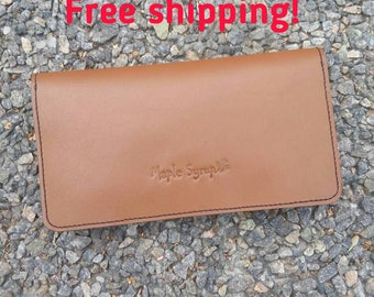 Leather wallet Maple Syrup purse
