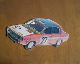 decorative plate wall renault 12 rally cut 1972 (no enamel)