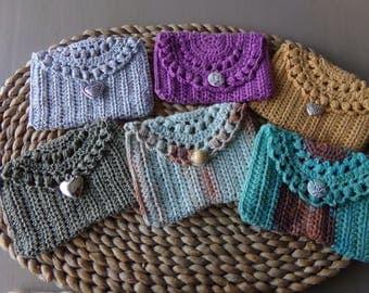 Crocheted pouch, coin purse