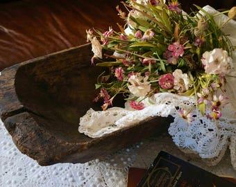 Large Antique Dough Bowl Wooden dough bowl Primitive antique home decor Country wood bowl Large bread bowl Rustic decor Hand carved bowl