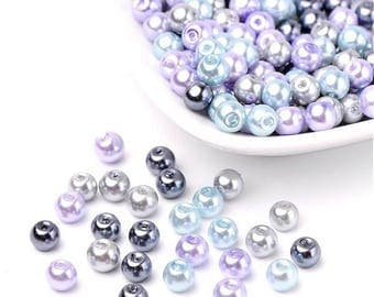 100 Pearl 4 mm in different colors by Lavender theme beads