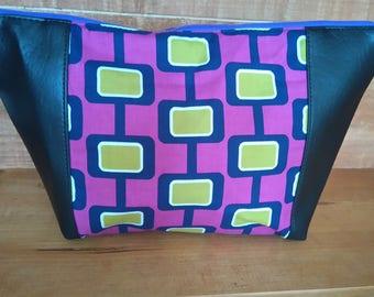 retro squares cosmetis bag make up bag wash bag ladies