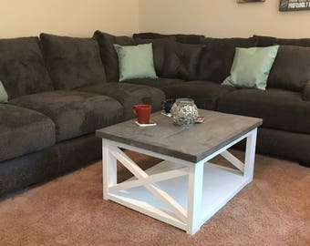 Rustic X Farmhouse coffee table