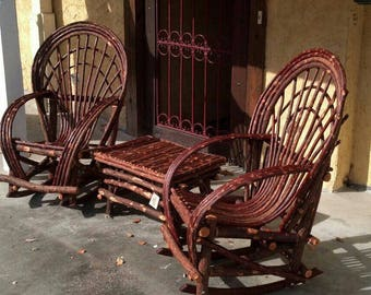 Willow Rocking chair  set * 3 Piece set *** 2 rockers and side table