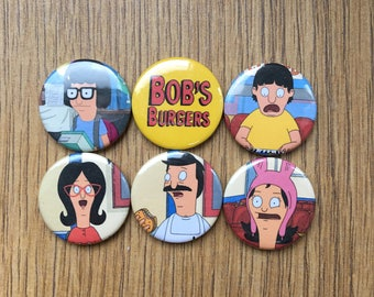 Bob's Burgers pinback button badges