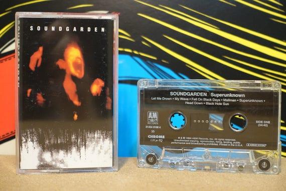 Superunknown by Soundgarden Vintage Cassette Tape