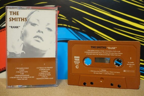 Rank (RARE UK Pressing) by The Smiths Vintage Cassette Tape