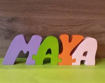 Name Maya wooden puzzle