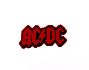 Red/Black AC DC Patch