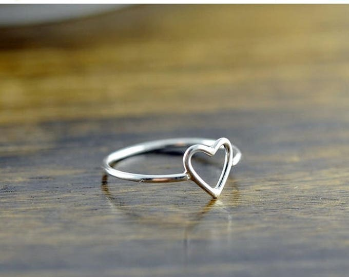 10% off SALE silver rings for women, heart ring, sterling silver, stacking rings, statement rings, gift for her, valentines day, romantic je