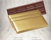 Gold Foil Candy Bar Wrappers -  Foil sheets for Hershey Candy Bar Wrappers - Candy Foils - Foil Wrappers for Candy Bars - Hershey Bars Wraps