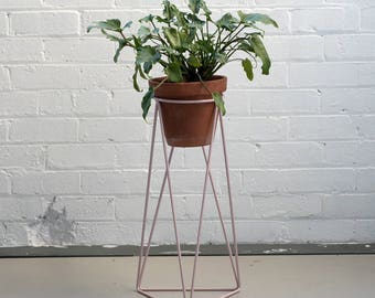 High Tri Plant Stand in Blush Pink