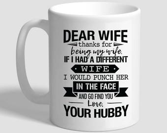 Gift for wife etsy wife love hubby husband to wife gift gift for wife wife birthday gift negle Choice Image