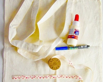 Solde -5% Kit de sac cabas en toile de coton à personnaliser