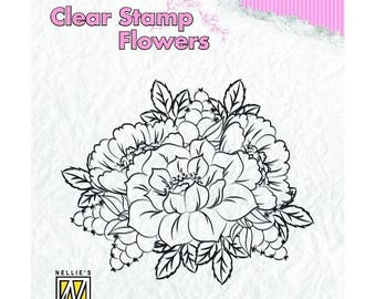 Stamp clear transparent scrapbooking NELLIE's CHOICE flower 373