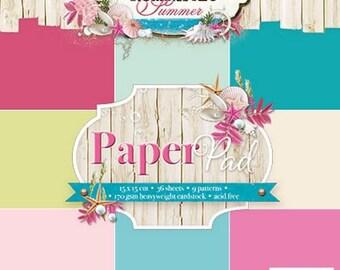 two pockets 15.2 36 papers x 15.2 cm 36 LIGHT ROMANTIC SUMMER STUDIO