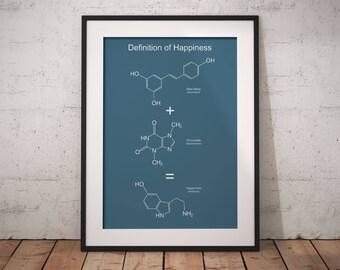 Kitchen art, chemistry, wine lover gift, chemistry gift, chemistry, science art, serotonin, wine, kitchen, science decor, chocolate molecule