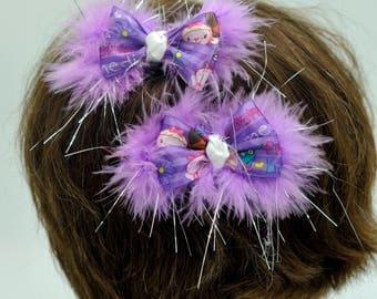Doc McStuffins Mini Pigtail Bows