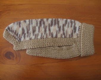 Knitted Dog Sweater - Knitted Dog Jumper - Handmade Dog Sweater - Dog Sweater - Dog Walking Sweater - Small Dog Sweater