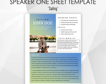 One sheet etsy microsoft word editable speaker one sheet template sailing for ministers pastors motivational pronofoot35fo Choice Image