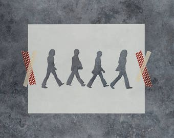 The Beatles Stencil - Reusable DIY Craft Stencils of the Beatles